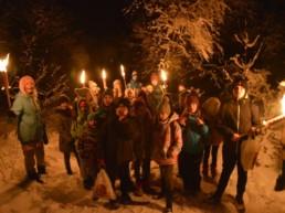 Dzieci w trakcie zimowego obozu w Niedzicy.
